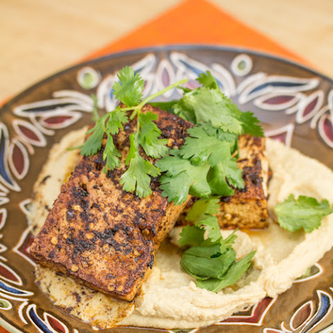 Chilli-Spiced Tofu with Hummus