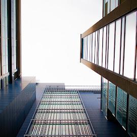 Looking up in dublin 3 by Paul Holmes - Buildings & Architecture Office Buildings & Hotels ( dublin, nikon d700, nikon 35mm f2 lens )