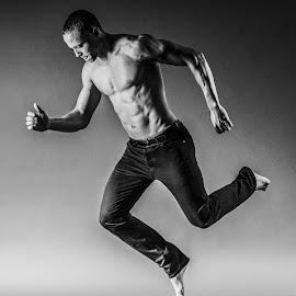 Jump by Paul Robinson - People Portraits of Men ( fashion, model, jumping, modeling, malemodel,  )