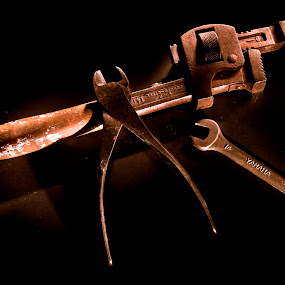 Old tools by Chris Pepper - Abstract Light Painting