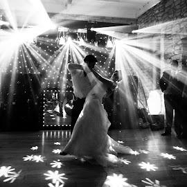 by Mark Wallis - Wedding Reception ( lights, wedding, dramatic, atmosphere, dance, dry ice )