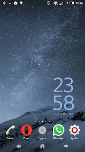 Theme Xperien Superblue - screenshot