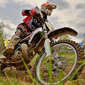 Concentration by Michaela Firešová - Sports & Fitness Motorsports ( motorbike, racer, close look )