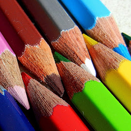 Rainbow markers 12 by Pradeep Kumar - Artistic Objects Education Objects