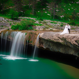 T&M by Jurica Žumberac - Wedding Other ( water, waterscape, wedding, waterfall, bride, landscape, groom )