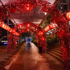Baywalk Mall Street by Mulawardi Sutanto - City,  Street & Park  Night ( street, mall, night, baywalk, travel, indonesia, jakarta )