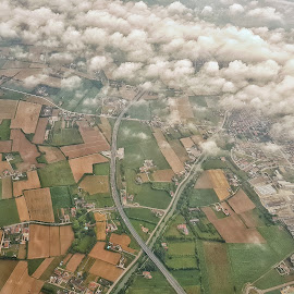Up by Cosmin Lita - Digital Art Places ( airplane, little things, up, airphoto, landscape )