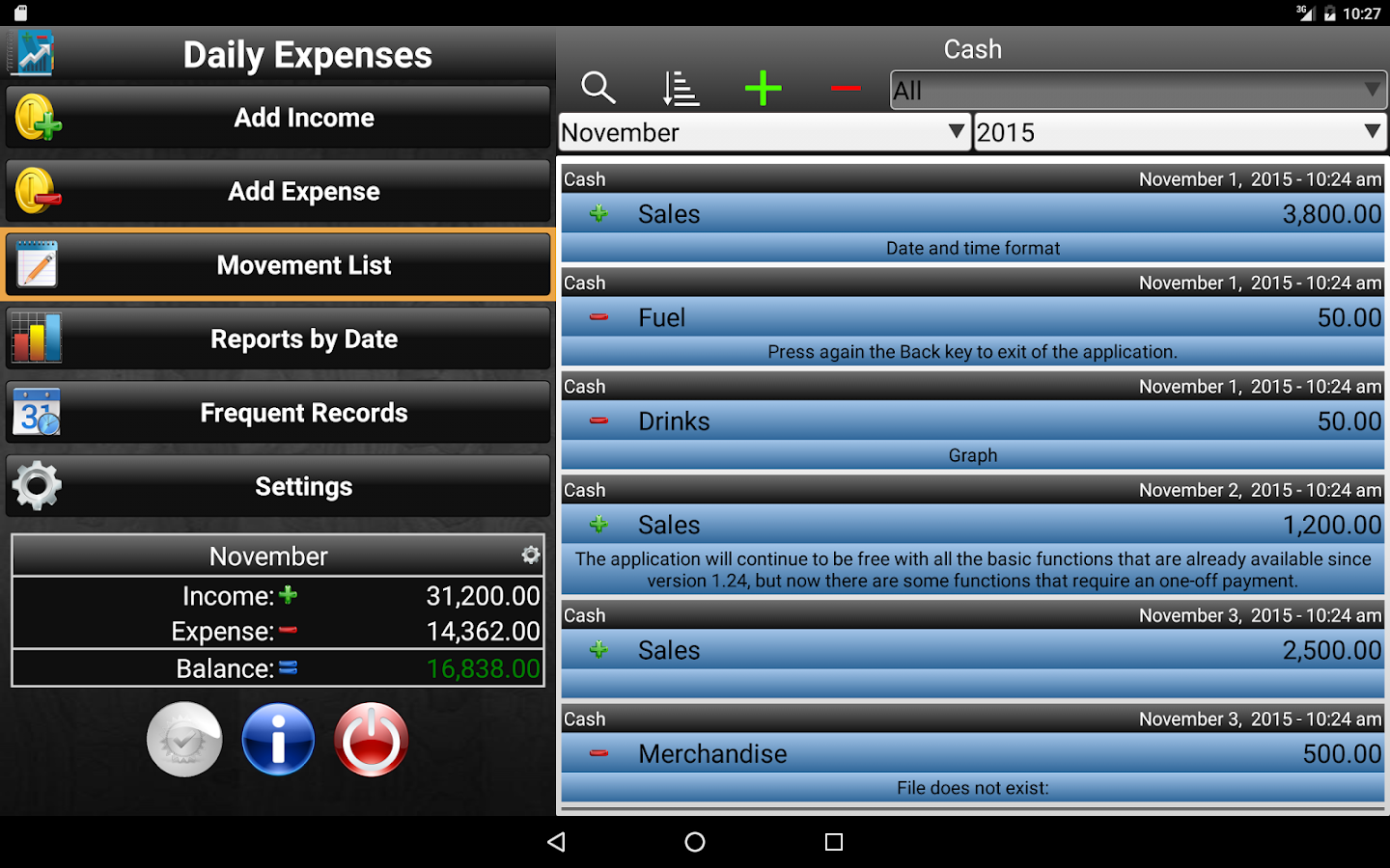 Daily Expenses 2 Screenshot 8