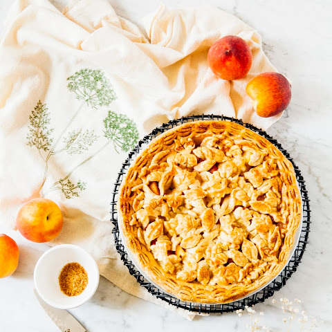 Pineapple and Peach Pie with a Coconut Oil Crust