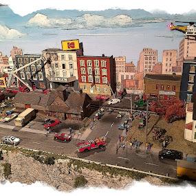 Miniature Village by Pam Blackstone - Digital Art Places ( digitalart, village, digital art, miniature village, diorama )