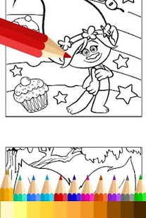 Coloring Book for Trolls Fans- screenshot thumbnail
