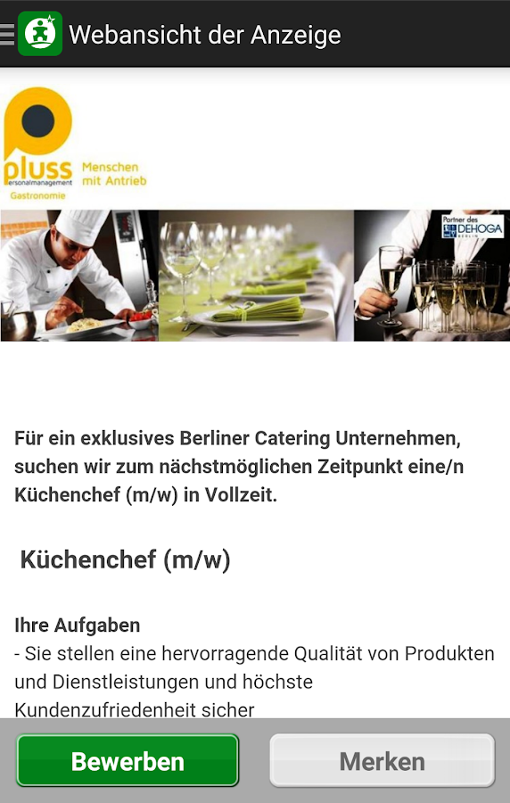 Gastro Jobs: GASTRONOMIECAREER Screenshot 3