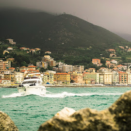 Spring fever by Florin  Galan - Landscapes Travel ( liguria, colors, sea, travel, boat, rocks, montain )