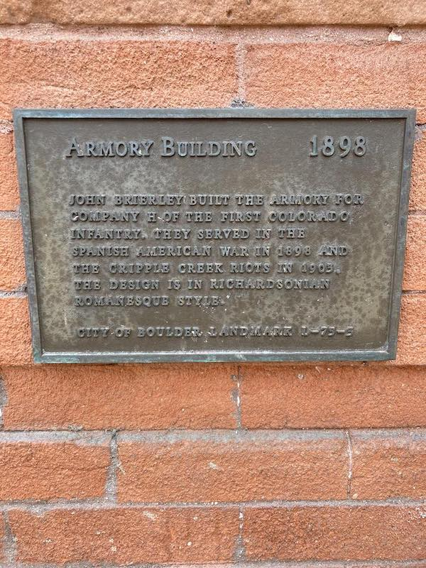 ARMORY BUILDING   1898JOHN BRIERLEY BUILT THE ARMORY FORCOMPANY H OF THE FIRST COLORADOINFANTRY. THEY SERVED IN THESPANISH AMERICAN WAR IN 1898 ANDTHE CRIPPLE CREEK RIOTS IN 1903.THE DESIGN IS IN ...