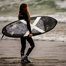 Getting Ready by Darren Sutherland - Sports & Fitness Surfing