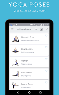 Yoga Fitness Training App Screenshot