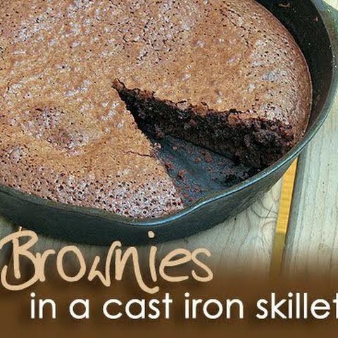 Brownies in a Cast Iron Skillet