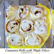The Pioneer Woman Cinnamon Rolls {kind of} with Maple Glaze