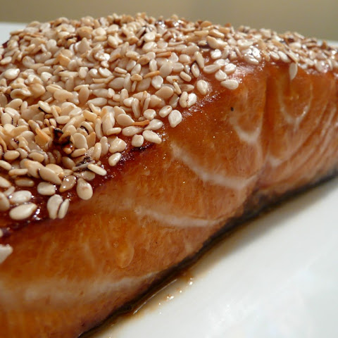 Sesame Crusted Honey Soy Salmon