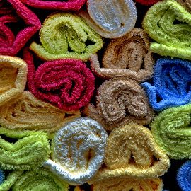 Towels by Aung Kyaw Soe - Abstract Patterns