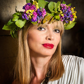 flowers in her hair by Andrija Vrcan - People Portraits of Women ( woman, portrait )