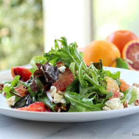 Blood Orange Salad with Blue Cheese and Pecans