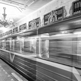 Metro by Rich Voninski - Transportation Trains ( russia, subway, metro, soviet, st petersburg )