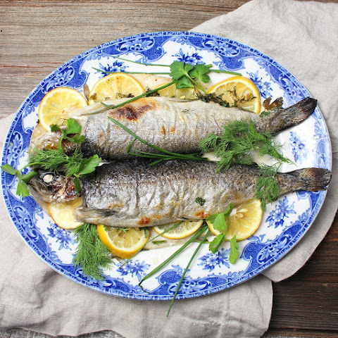 Trout with Lemon and Herbs