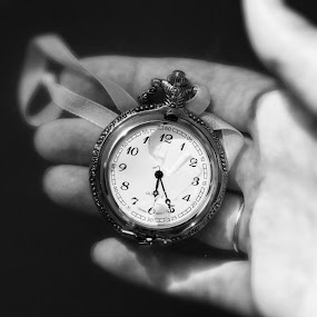 by Madison Carmichael - Artistic Objects Antiques ( love, b&w, clock, fingers, bw )