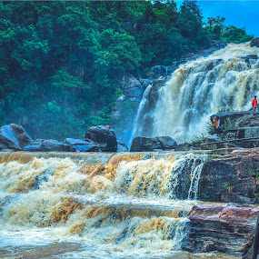 Jonha Fall by Nayan Shaurya - Landscapes Waterscapes ( #waterfall, #nature, #landscapes, #forest, #rocks )