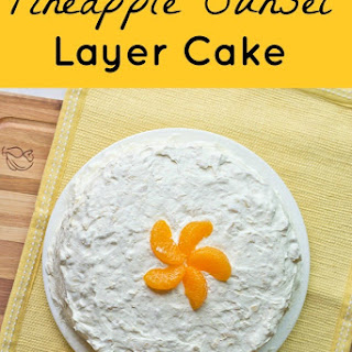 Pineapple Sunset Layer Cake