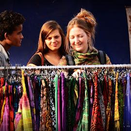 Fashion shoppers by Prasanta Das - City,  Street & Park  Markets & Shops ( shop, fashion, scene )