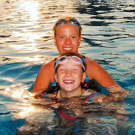 Fun&Swimming by Tomasz Budziak - Babies & Children Child Portraits ( sunset, greece, child portraits, swimming, portrait,  )