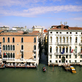 Grand Canal, Venice by Helen Roberts - City,  Street & Park  Historic Districts