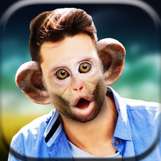 Snap Monkey Face Sticker - Animal Face Changer (app)