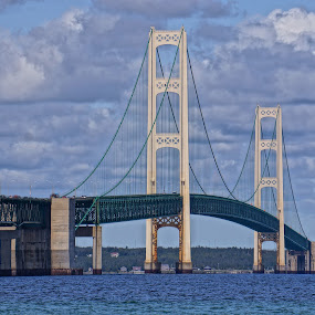Mackinac Bridge by Jim Czech - Buildings & Architecture Bridges & Suspended Structures ( mackinac, michigan, bridge, , landmark, travel )
