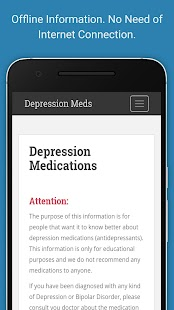 Depression Meds screenshot for Android