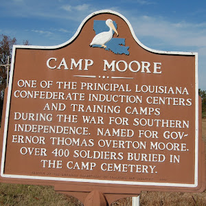 One of the principal Louisiana Confederate induction centers and training camps during the war for southern independence. Named for Governor Thomas Overton Moore. Over 400 soldiers buried in the camp ...