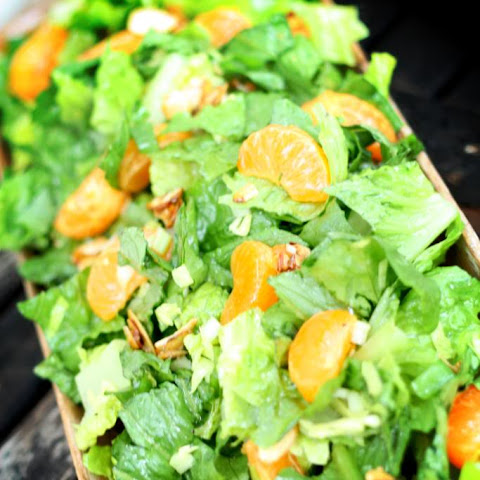 Green Salad with Mandarin Oranges & Candied Almonds