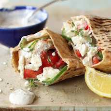 GRILLED GREEK CHICKEN PITAS