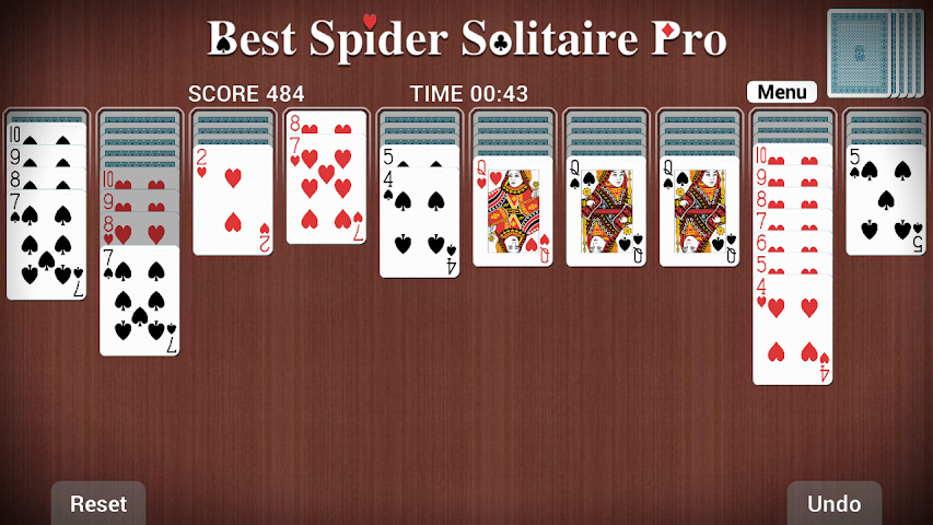 android Best Spider Solitaire Pro Screenshot 1