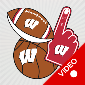 Wisconsin Badgers Selfie Aufkleber Animierte android apps download