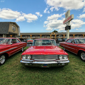 Ford Galaxy by Karen Carter Goforth - Transportation Automobiles ( automobile, red, cars, ford, galaxy, three, transportation,  )