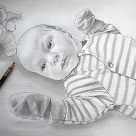 Portrait of Theo by Mihajlo Stojanovski - Drawing All Drawing ( pencil, graphite, hyperrealism, louvre, art, boy, drawing )