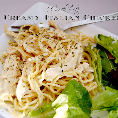 {Crock Pot} Creamy Italian Chicken