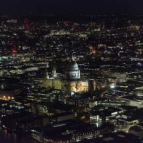 St Paul's Cathedral by James Booth - City,  Street & Park  Skylines ( night view, night photography, night scene, night shot, nightscape,  )