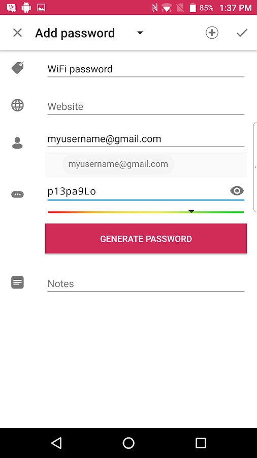 BlackBerry Password Keeper Screenshot 4