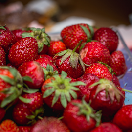 Strawberries by Marius Radu - Food & Drink Fruits & Vegetables ( red, springtime, fruits, strawberries, bowl )