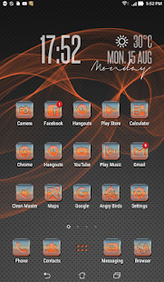 Metallic Orange Icon Pack - screenshot