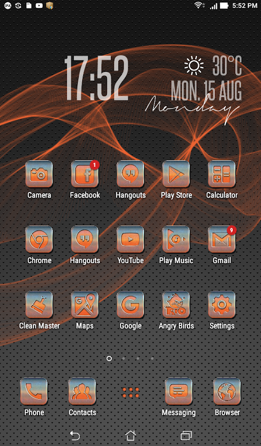 Metallic Orange Icon Pack Screenshot 0